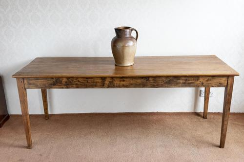 Elm & Pine Farmhouse Table with Side Drawer (1 of 6)