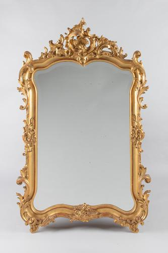 Wonderful Large 19th Century French Gilt Overmantle mirror (1 of 14)