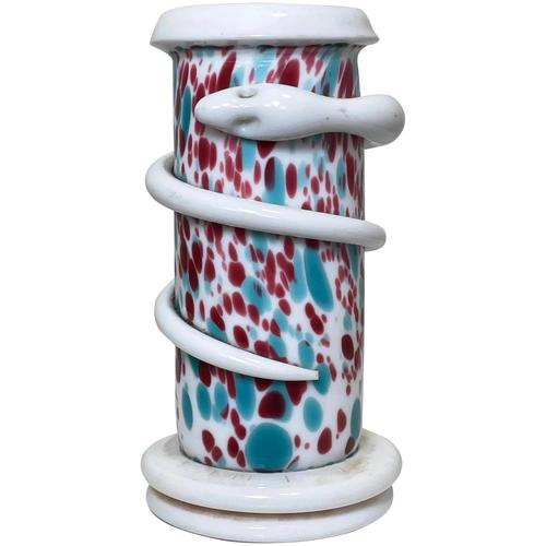 Decorative Small Art Deco Czech Snake Coiled Art Glass Vase (1 of 29)