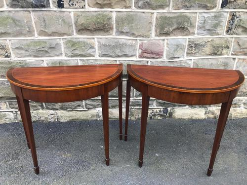 Pair Antique Mahogany Console Tables (1 of 9)