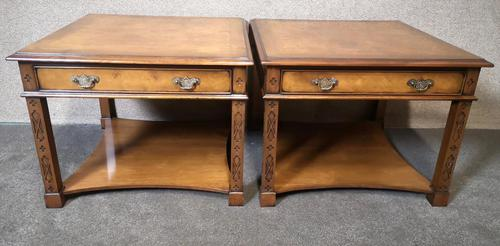 Pair of Burr Walnut End Tables Iain James Fine Furniture (1 of 9)
