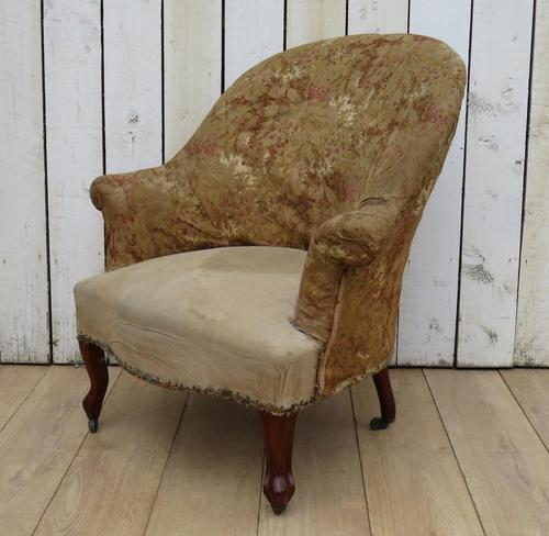 Antique French Tub Chair For Re-upholstery (1 of 8)