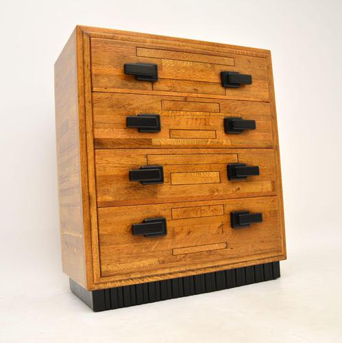 Art Deco Solid Oak Chest of Drawers (1 of 12)