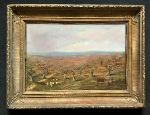 Large Superb Original 19thc West Sussex 'Tilgate Forest' Landscape Oil Painting (1 of 12)