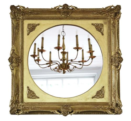 Gilt 19th Century Large Overmantle Wall Mirror (1 of 6)