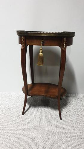 Very Nice French Walnut Side Lamp Table (1 of 7)
