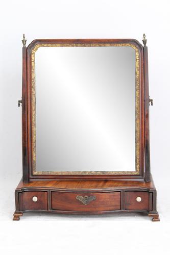 Antique Georgian Mahogany Dressing Table Mirror (1 of 13)
