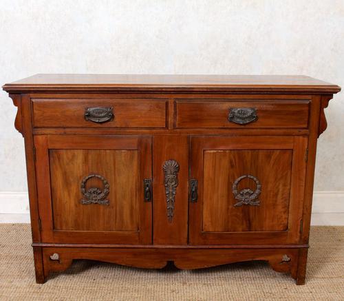 Dresser Base Arts & Crafts Walnut Sideboard 19th Century (1 of 11)