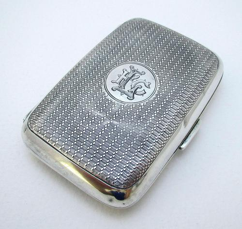 Edwardian 1902 English Antique Solid Sterling Silver Hip Pocket Small Cigarette Case (1 of 10)