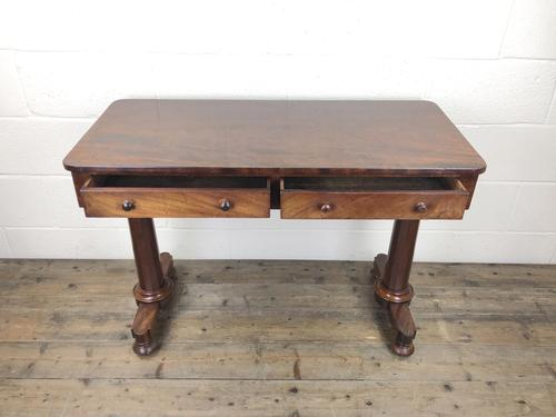 Victorian Mahogany Two Drawer Side Table (1 of 17)