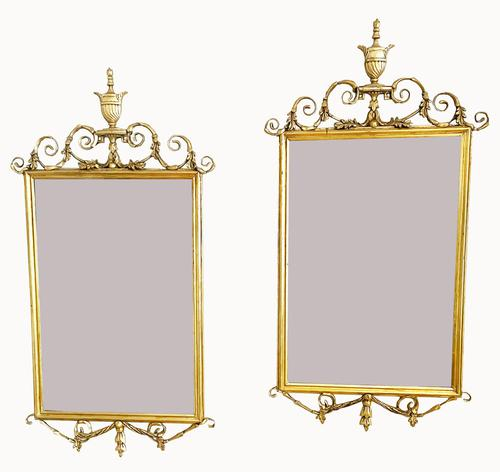 Lovely Pair of Adams Style Gilt Mirrors (1 of 7)