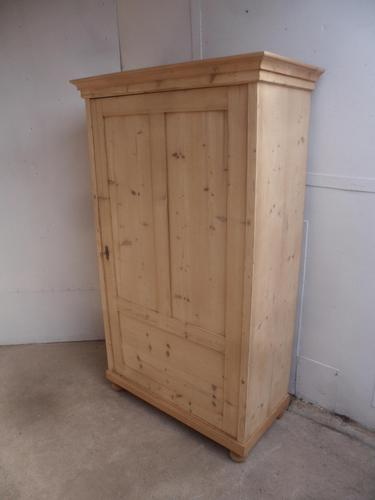 Mint 1 Door Victorian Antique Pine Kitchen / Linen Cupboard to wax / paint (1 of 8)