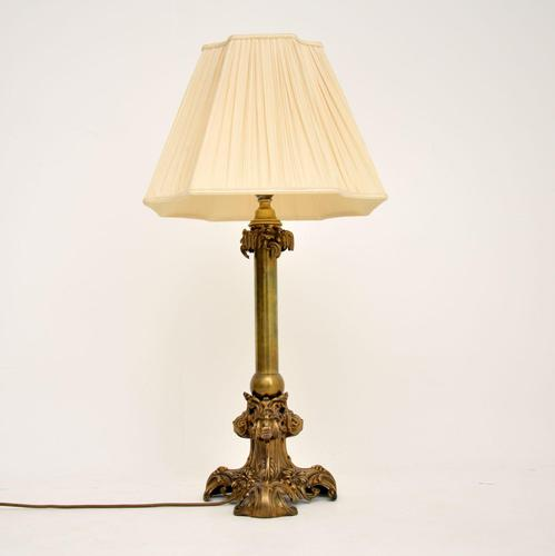 Antique Victorian Brass Table Lamp (1 of 7)