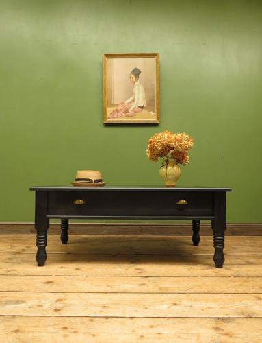 Black Coffee Table with Display Drawer & Glass Top (1 of 18)