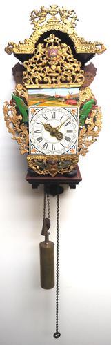 Wow! Antique 18th Century Dutch Stoelklok Wall Clock Verge Wall Clock (1 of 12)