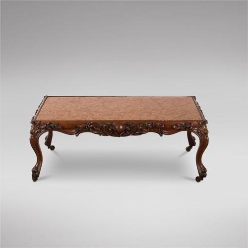 Continental Rosewood Framed Table with Marble Top (1 of 4)