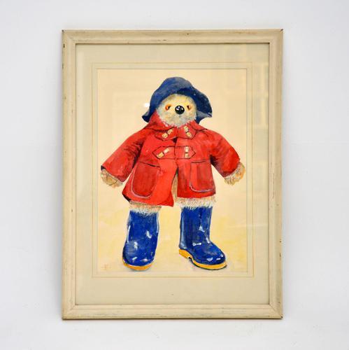 Vintage Paddington Bear Original Watercolour Painting (1 of 8)