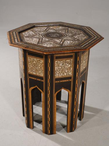 Early 20th Century Syrian Hardwood & Mother of Pearl Octagonal Table (1 of 5)