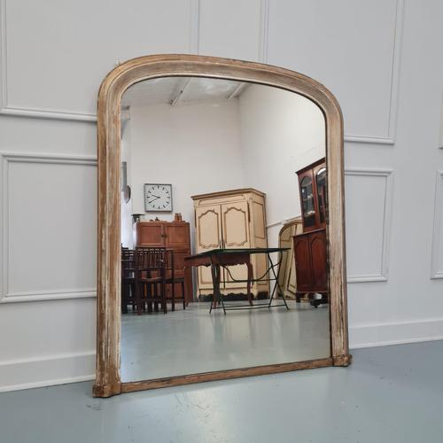 Distressed Antique English Overmantle Mirror c.1890 (1 of 5)
