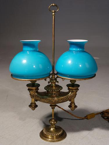 Rare Early 20th Century French Double Bouillotte Lamp (1 of 3)