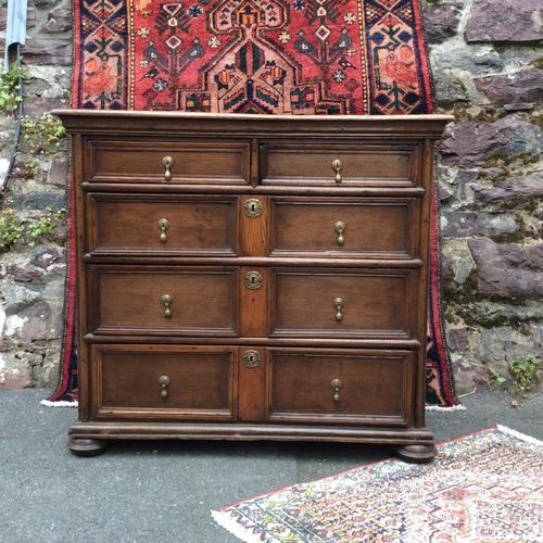 Late 17th Century Oak & Elm Chest of Drawers (1 of 6)