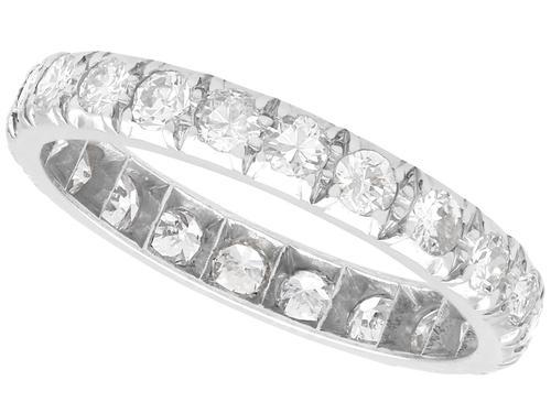 1.10ct Diamond & Platinum Full Eternity Ring c.1940 (1 of 9)