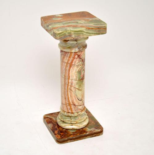 Antique Neo-Classical Onyx Pedestal Column (1 of 8)