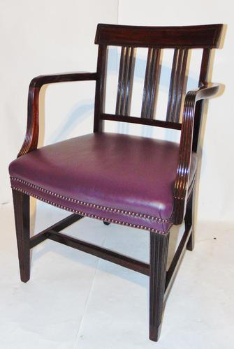 Scottish Georgian Mahogany Elbow Chair (1 of 6)