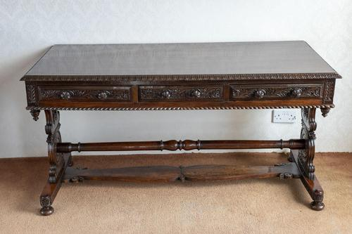 Hardwood Stretcher Table from the Late Regency Period (1 of 11)