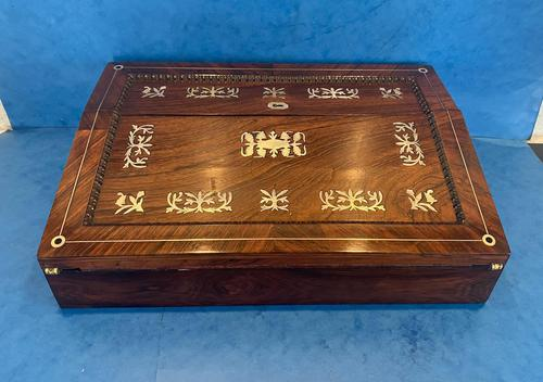 William IV Mother of Pearl Inlaid Lap Desk (1 of 15)