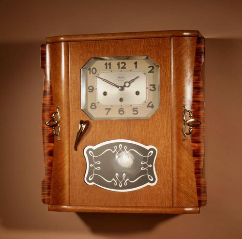 A Westminster Girod Carillon Oak, Rosewood Wall Clock French Circa 1955 (1 of 11)
