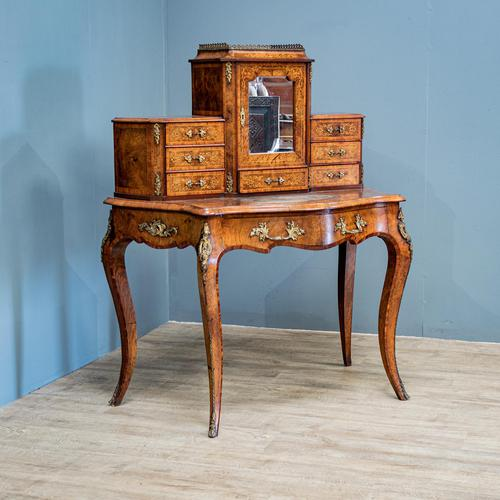 Victorian Marquetry Desk (1 of 8)