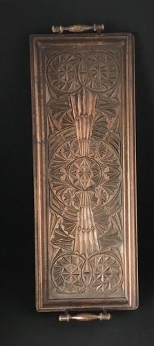 Victorian  Carved Wood Two Handle Drinks Tray (1 of 4)
