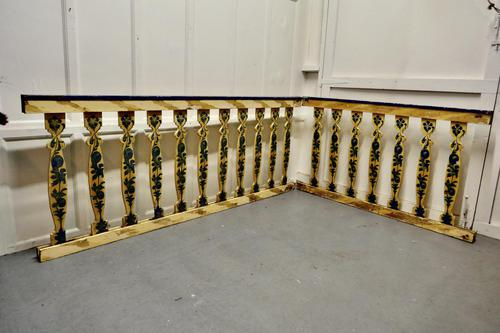 Hand Painted Wooden Railings from a Fair Ground (1 of 11)