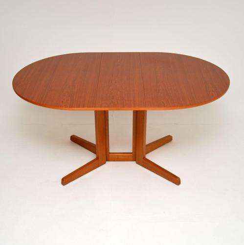 Danish Teak Vintage Drop Leaf Dining Table (1 of 8)