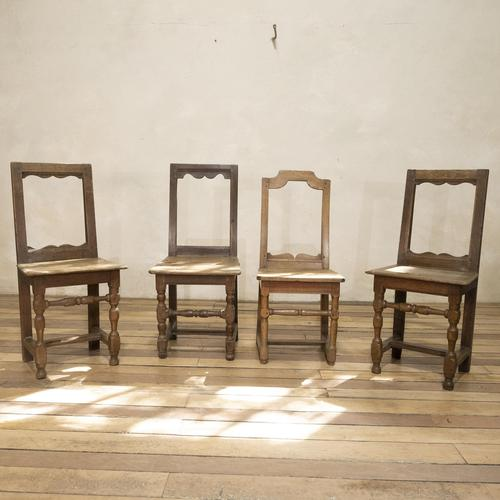 Set of Four French 18th Century Backstool Chairs (1 of 13)