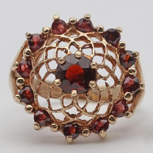 Vintage Gold & Garnet Dress Ring (1 of 3)