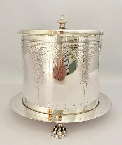 Victorian Silver Plated Biscuit Wafer Box c.1890 (1 of 9)