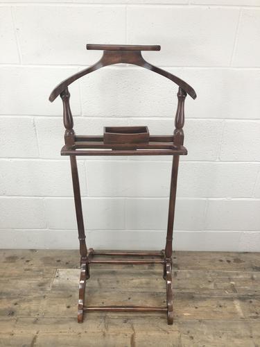 Edwardian Mahogany Gentleman's Valet Stand (1 of 8)