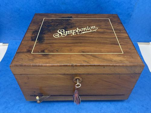 Victorian  Walnut Symphonian Music Box (1 of 22)