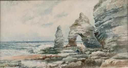 Leopold Rivers Watercolour 'King & Queen Rocks, Flamborough Head, Yorkshre' (1 of 3)