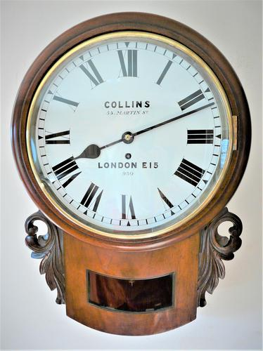 Stunning 1888 English Fusee Drop Dial Timepiece by James Collins & Son (1 of 7)
