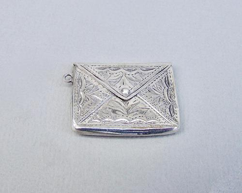 "Sterling silver ""envelope"" stamp case by Adie & Lovekin, Birmingham 1915 (1 of 6)"
