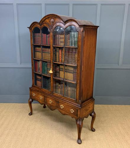 Burr Walnut Dome Topped Bookcase (1 of 18)