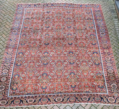 Antique Heriz Carpet 383x311cm (1 of 5)