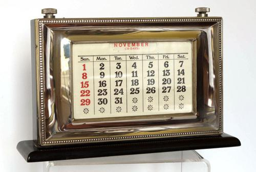 Silver Fronted Perpetual Calendar - London1985 (1 of 5)