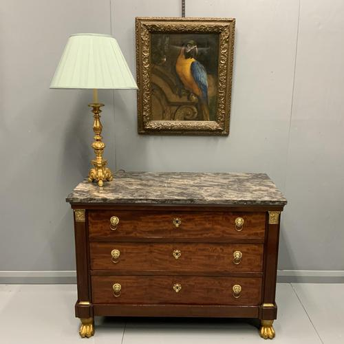 French Empire Commode with Gilt Lions Paw Feet (1 of 10)