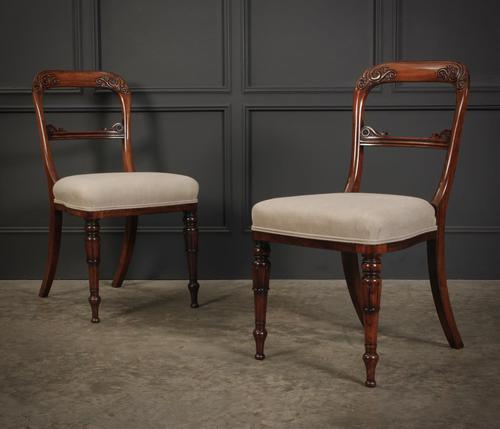 Pair of William IV Rosewood Chairs (1 of 13)