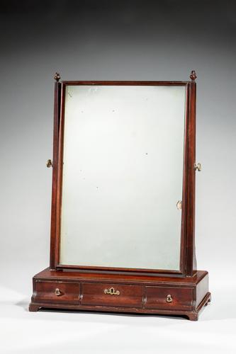 Mid 18th Century Mahogany Dressing Mirror (1 of 3)