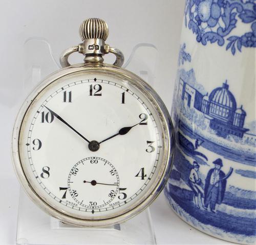 1937 Silver Revue Pocket Watch (1 of 5)
